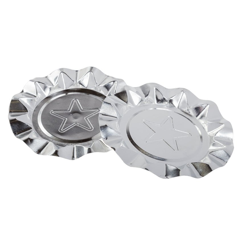 SILVER STAR ALUMINUM ASHTRAYS, Two Ashtrays Side by Side