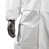 KEYGUARD XL LAB COAT NO POCKETS OPEN WRISTS SNAPS COLLAR, button up