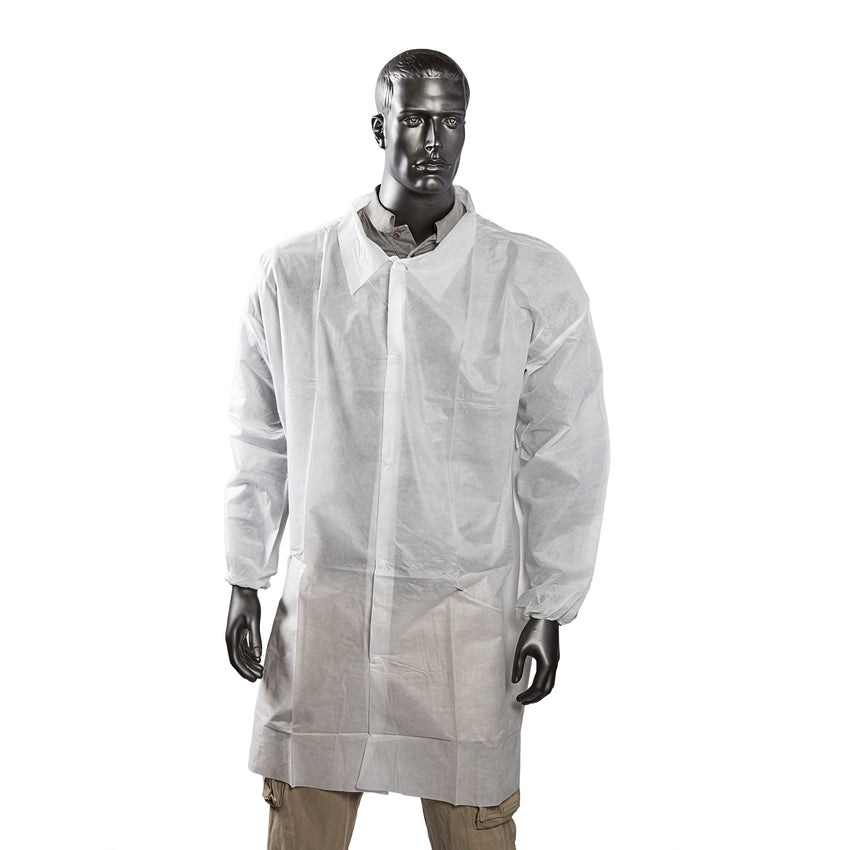 SMS S LAB COAT NO POCKETS, ELASTIC WRISTS