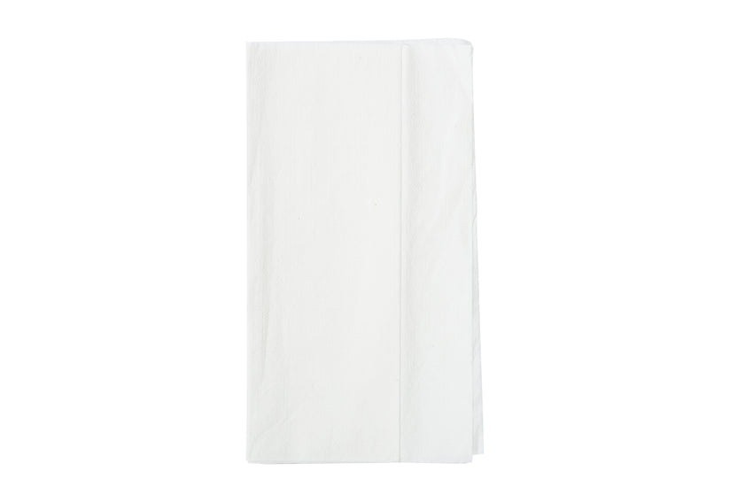 "Dispenser Napkin, 13"" x 12"", White, 1 Ply, Mini Fold, Embossed"