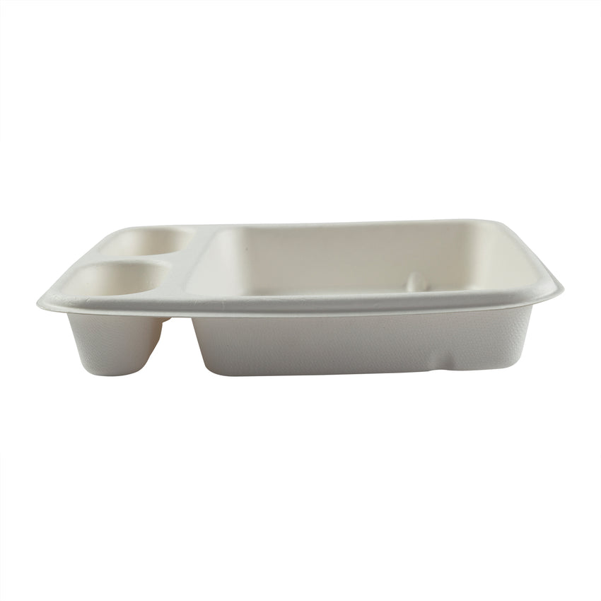"3 Compartment Nacho Trays 7"" x 9"", Side View"