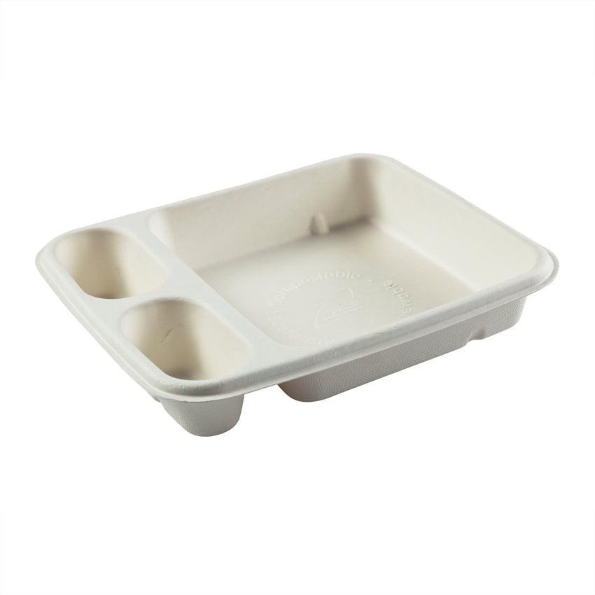 "3 Compartment Nacho Trays 7"" x 9"""