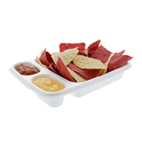 "3 Compartment Nacho Trays 7"" x 9"", with Food"