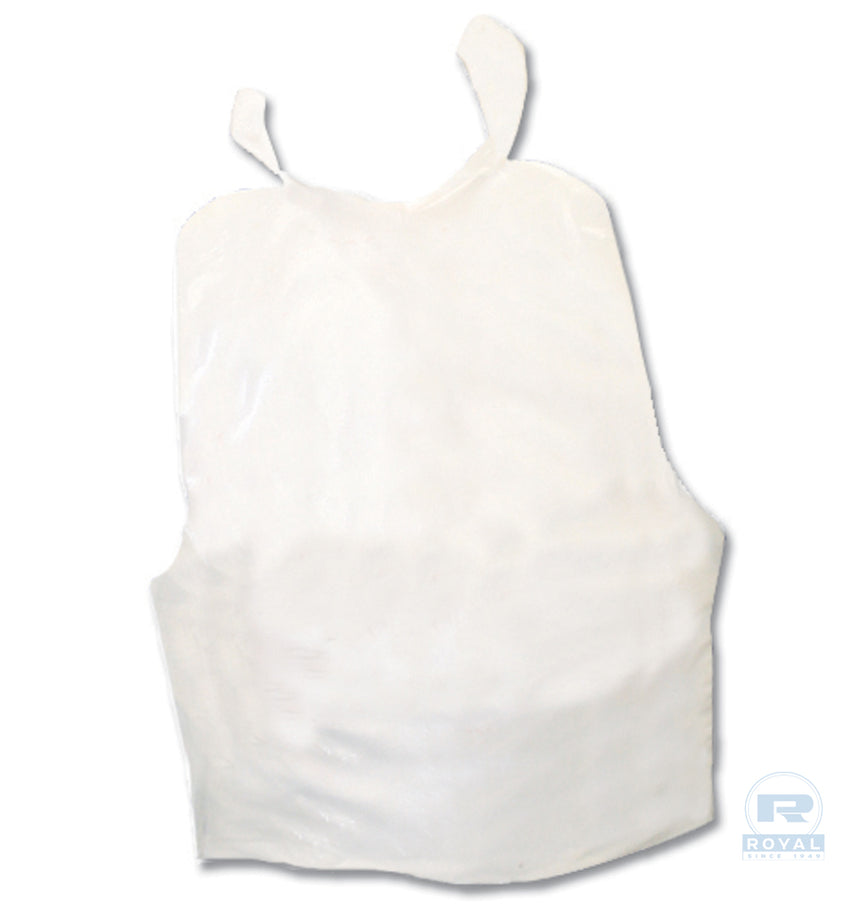 ADULT POLY BIB PLAIN WHITE