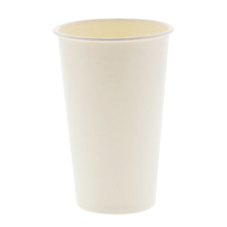 16 OZ PAPER CUP, SQUAT, 257GSM WHITE, 1000