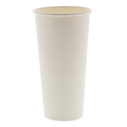 22 OZ PAPER CUP, SQUAT, 257GSM WHITE, 1000