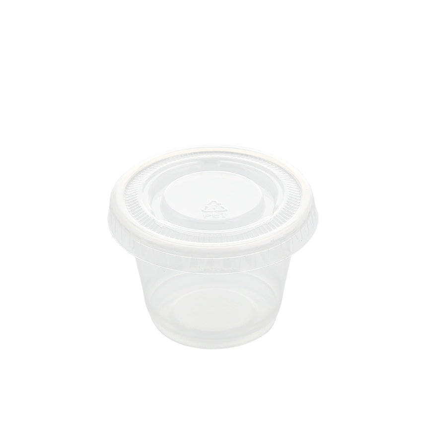 1 oz. Clear Polypropylene Portion Cup Lid, Lid On A Cup