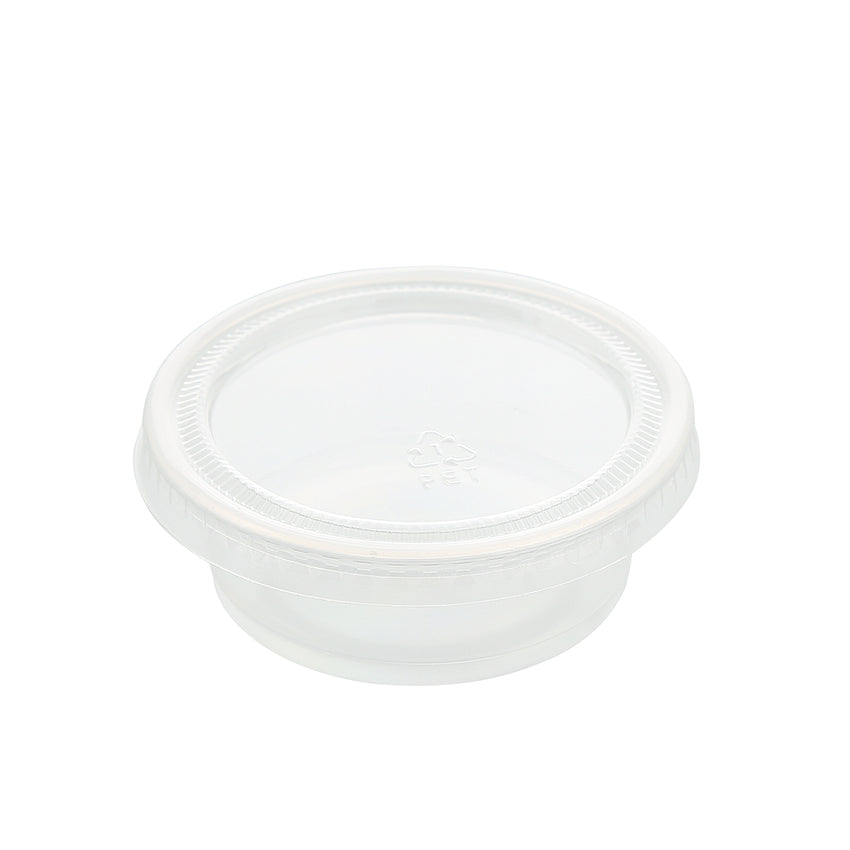 1.5 to 2 oz. Clear Polypropylene Portion Cup Lid, Lid On A Clear Cup
