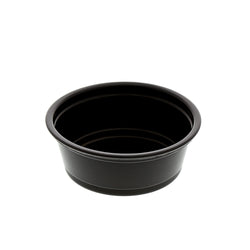1.5 oz. Black Polypropylene Portion Cup