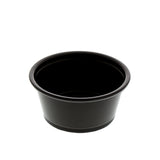 2 oz. Black Polypropylene Portion Cup