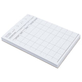 "White Server Pad, 1-Part Booked, 4"" x 6"", 9 Lines"