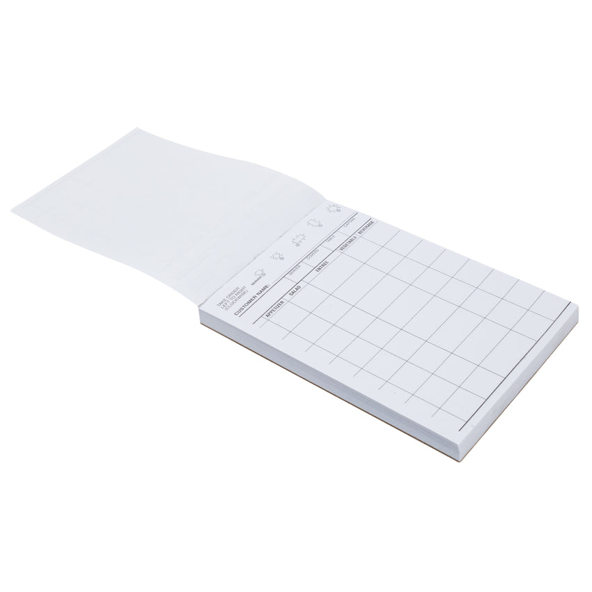 "White Server Pad, 1-Part Booked, 4"" x 6"", 9 Lines, Second Page"