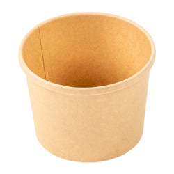 12 OZ KRAFT PAPER FOOD CONTAINER AND LID COMBO