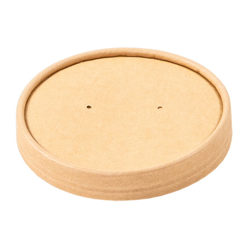 12 OZ KRAFT PAPER FOOD CONTAINER AND LID COMBO, closed lid
