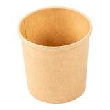 16 OZ KRAFT PAPER FOOD CONTAINER AND LID COMBO