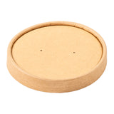 16 OZ KRAFT PAPER FOOD CONTAINER AND LID COMBO, closed lid