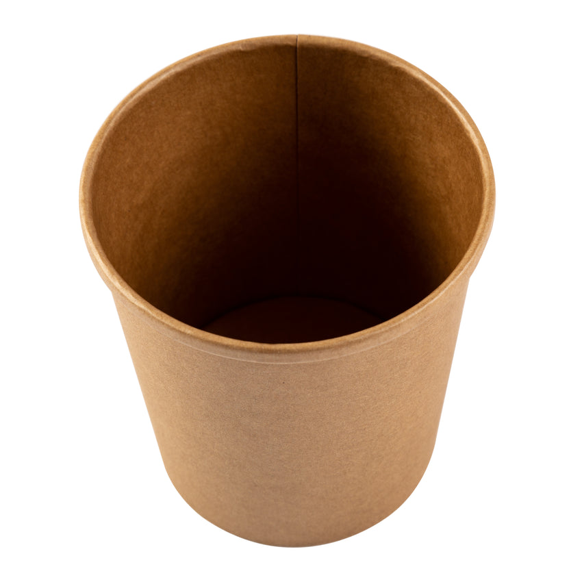 16 OZ KRAFT PAPER FOOD CONTAINER, overhead view