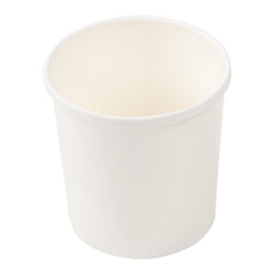 16 OZ WHITE PAPER FOOD CONTAINER AND LID COMBO