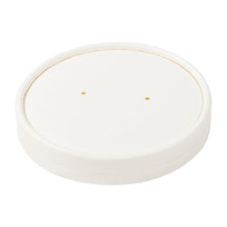 16 OZ WHITE PAPER FOOD CONTAINER AND LID COMBO, 1/250