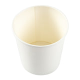 16 OZ WHITE PAPER FOOD CONTAINER, overhead view
