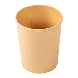 32 OZ KRAFT PAPER FOOD CONTAINER AND LID COMBO