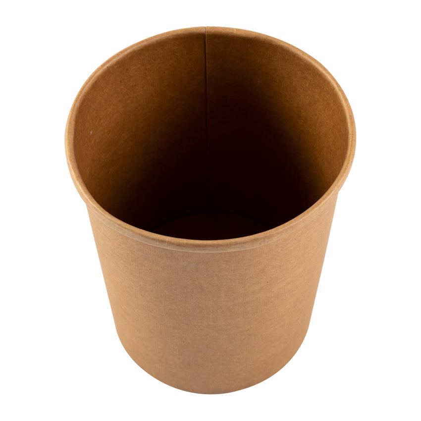 32 OZ KRAFT PAPER FOOD CONTAINER, overhead view