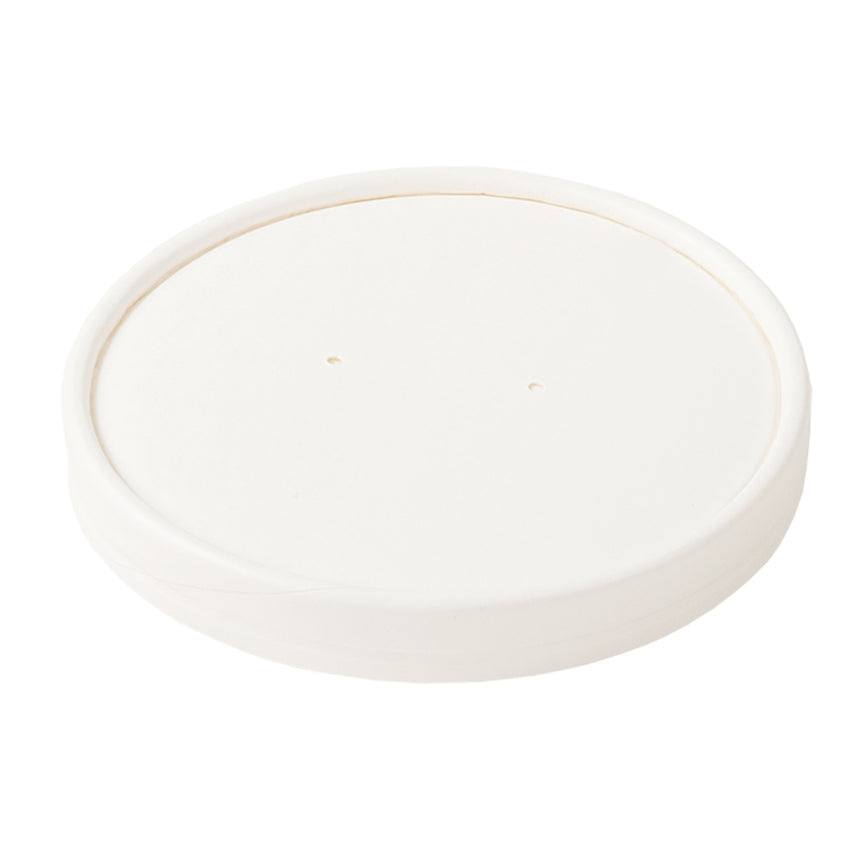 32 OZ WHITE PAPER FOOD CONTAINER AND LID COMBO, closed lid