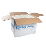 32 OZ WHITE PAPER FOOD CONTAINER, open case
