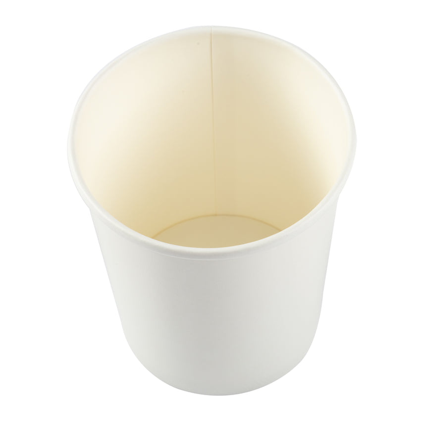 32 OZ WHITE PAPER FOOD CONTAINER, overhead view