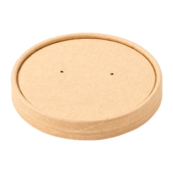 8 OZ KRAFT PAPER FOOD CONTAINER AND LID COMBO, 1/250