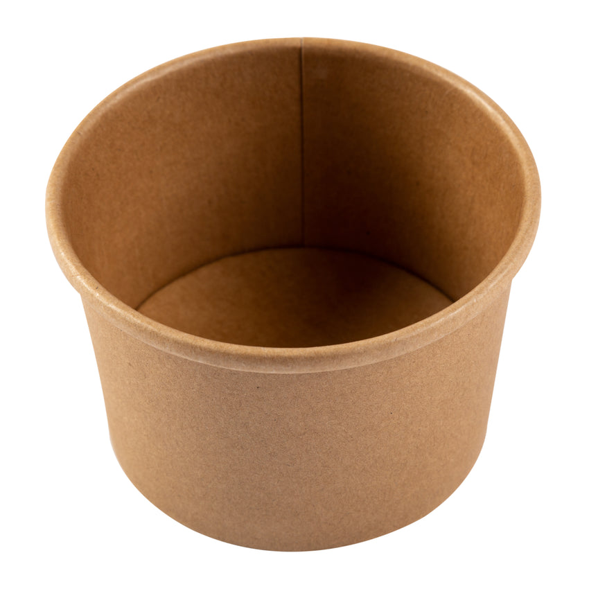 8 OZ KRAFT PAPER FOOD CONTAINER, overhead view