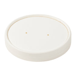 8 OZ WHITE PAPER FOOD CONTAINER AND LID COMBO, 1/250