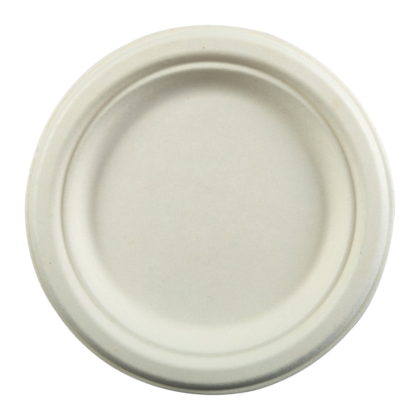"7"" Round Plates, Overhead View"