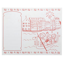 Activity Sheet, Italian Theme, Red And Green Ink, 14