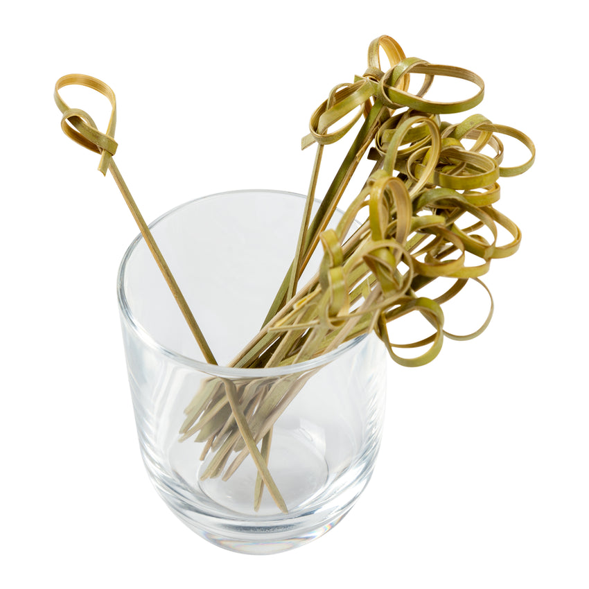 "3.5"" BAMBOO KNOT PICKS, in glass"