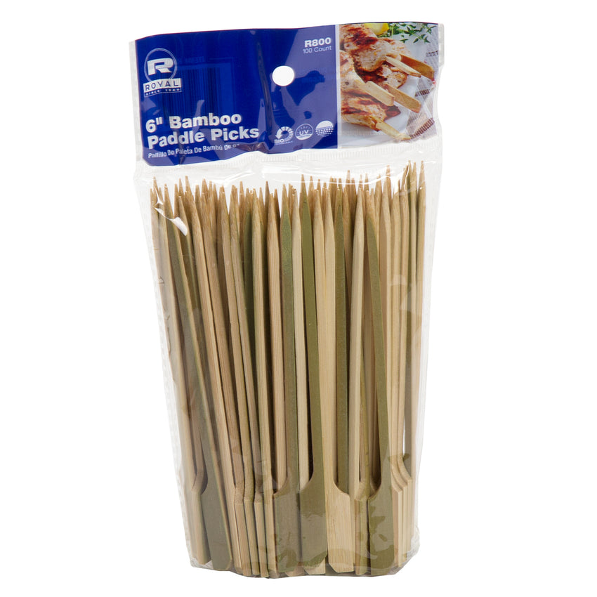 "6"" BAMBOO PADDLE PICK, inner packaging"