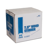 "7.5"" WOOD COFFEE STIRRERS, Closed Case"