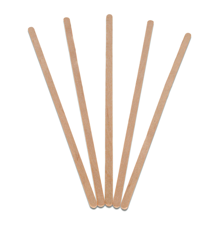 "7.5"" WOOD COFFEE STIRRERS, Five Stirrers Fanned Out"
