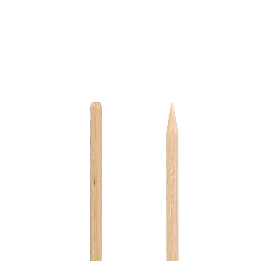 "WOODEN SKEWER WITH CHAMFER EDGE 5.9"", Detailed View"