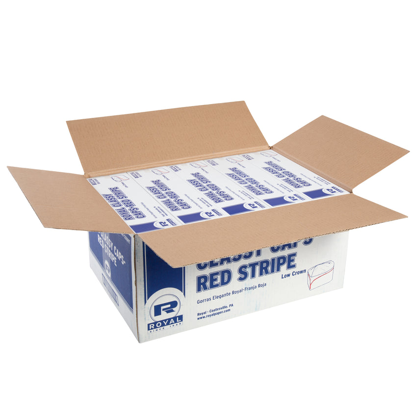 ROYAL CLASSY CAP RED STRIPE, Opened Case