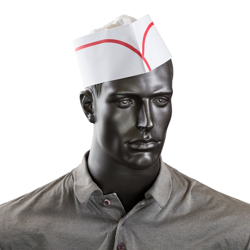 ROYAL CLASSY CAP RED STRIPE, Cap On Mannequin