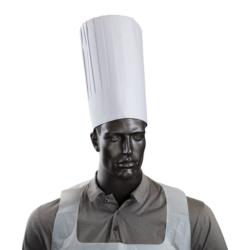"ROYAL 12"" PLEATED CHEF HAT, Hat On Mannequin"