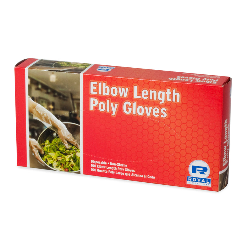ELBOW POLY GLOVES 21.5""
