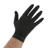 BLACK GENERAL PURPOSE POWDER FREE NITRILE GLOVES, Detailed View