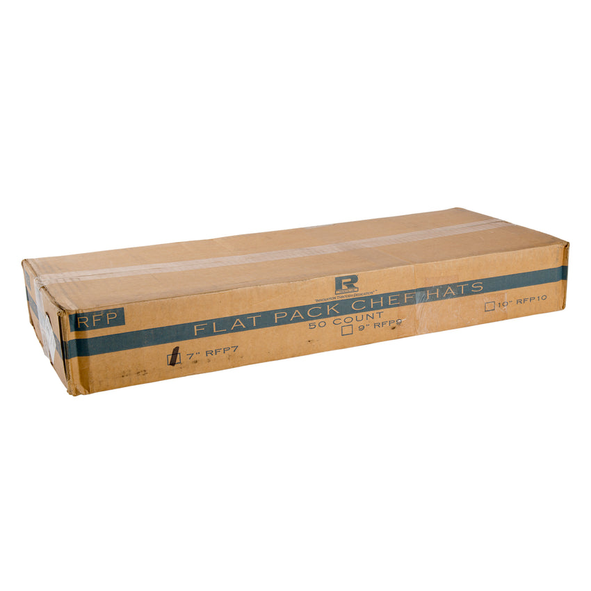 "7"" ROYAL CHEF HAT FLAT Pack, Closed Case"