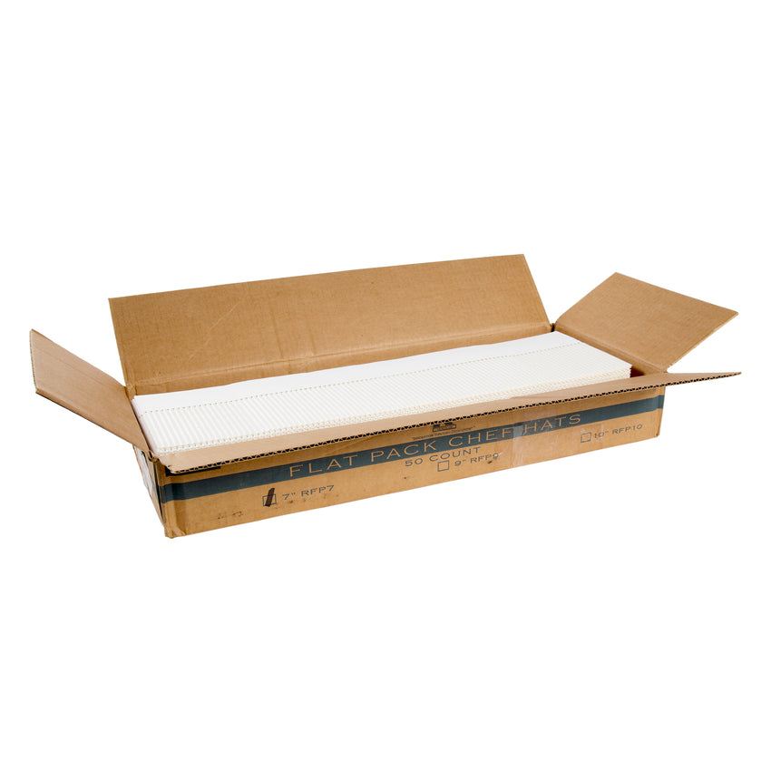 "7"" ROYAL CHEF HAT FLAT Pack, Opened Case"