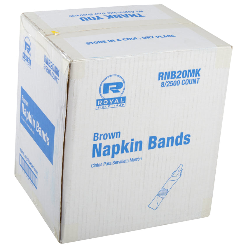 PAPER NAPKIN BAND BROWN, Closed Case