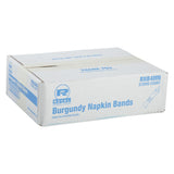 PAPER NAPKIN BAND BURGUNDY, Closed Case