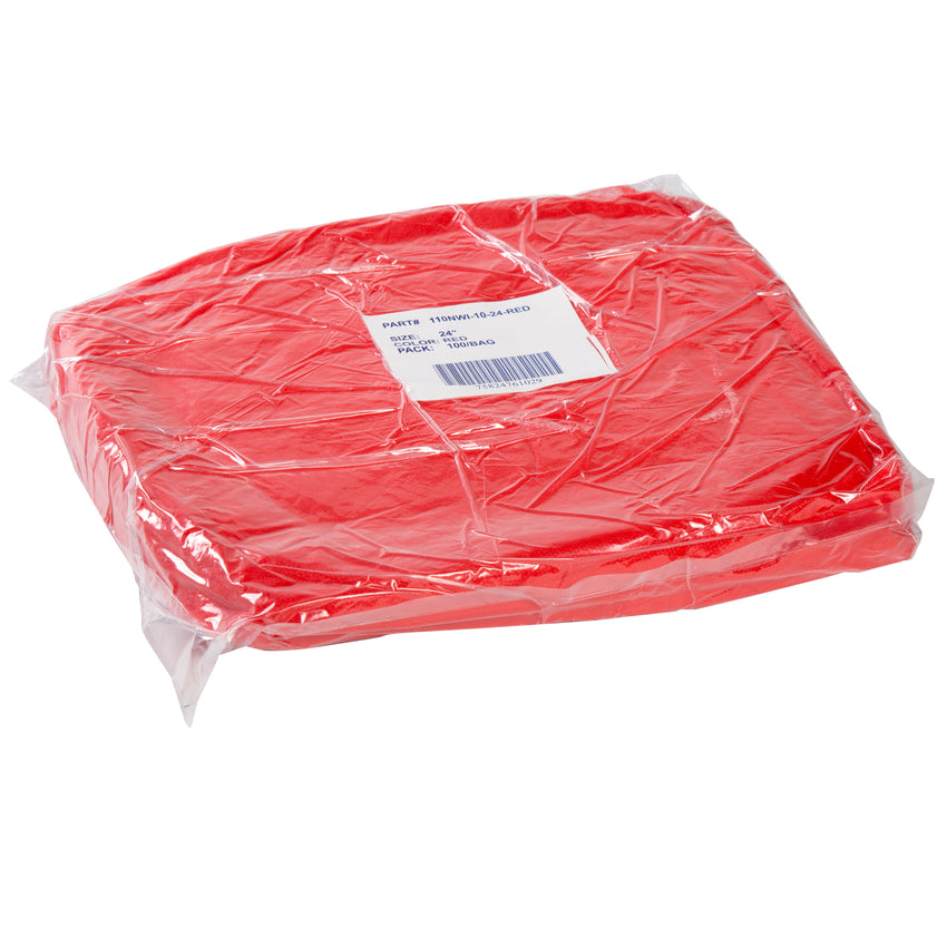 "24"" RED O.R. CAP LATEX FREE, Plastic Wrapped Inner Package"