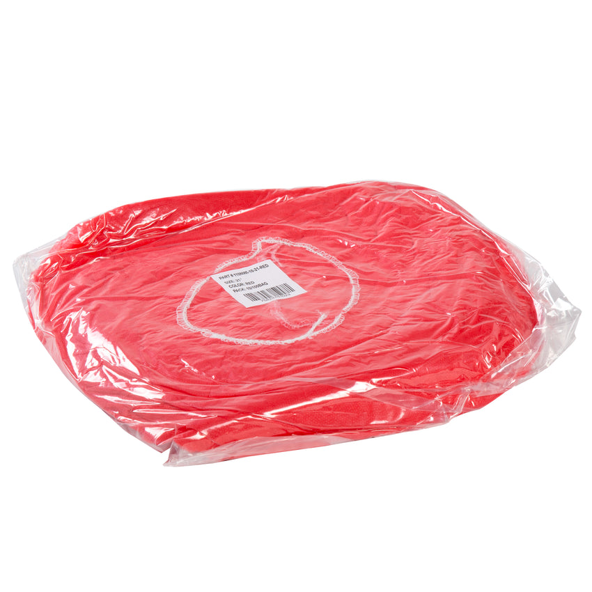 "21"" RED O.R. CAP LATEX FREE, Plastic Wrapped Inner Package"